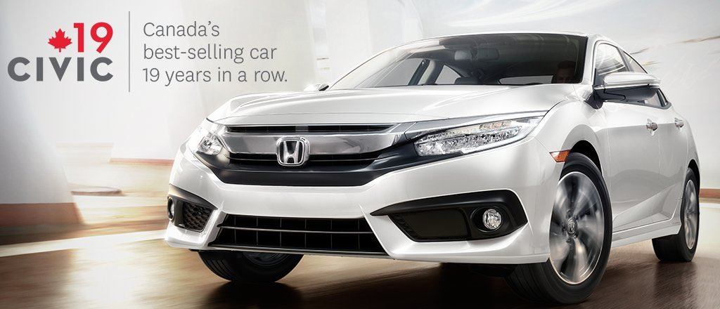 HondaPro Jason On Twitter The Honda Civic Is Best Selling Car In Canada For 19th Year A Row Congrats HondaCanada Owners