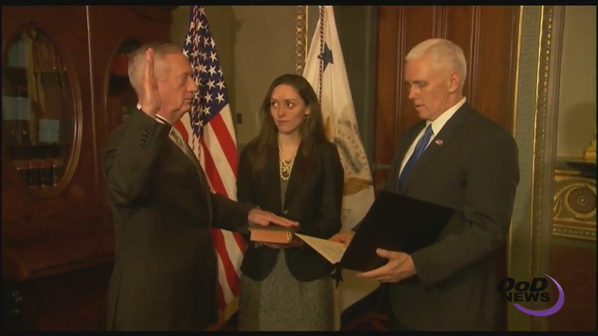 Congratulations to James Mattis, our 26th Secretary of Defense. Welcome, sir! #SecDef