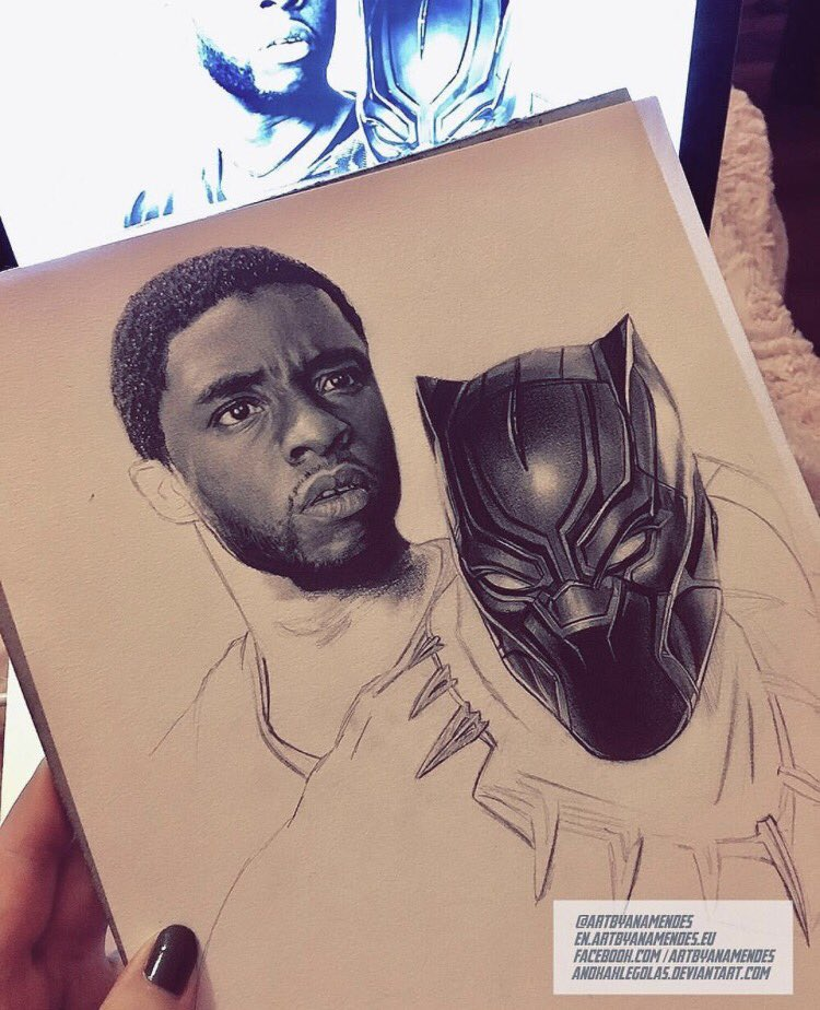 Wow, this is incredible. Thank you, @artbyanamendes! #BlackPanther #FanArtFriday <br>http://pic.twitter.com/kfQDZKbJFs