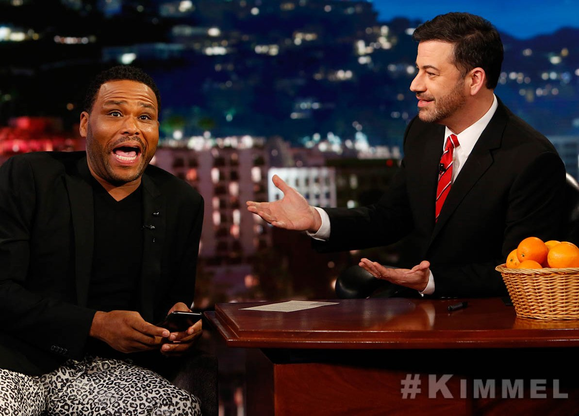 Our pal @AnthonyAnderson TONIGHT on #Kimmel! #blackish #ToTellTheTruth...