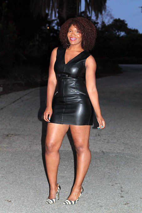 Outfit Inspiration: Leather Shift Dress & Pumps