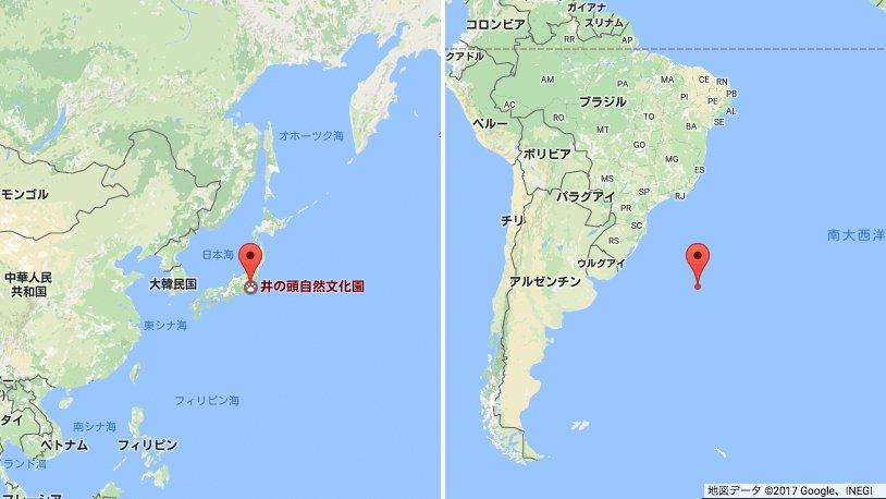 アアッ…東京の反対側は…  _人人人人人_ >  海!  <  ̄^Y^Y^Y^Y^ ̄