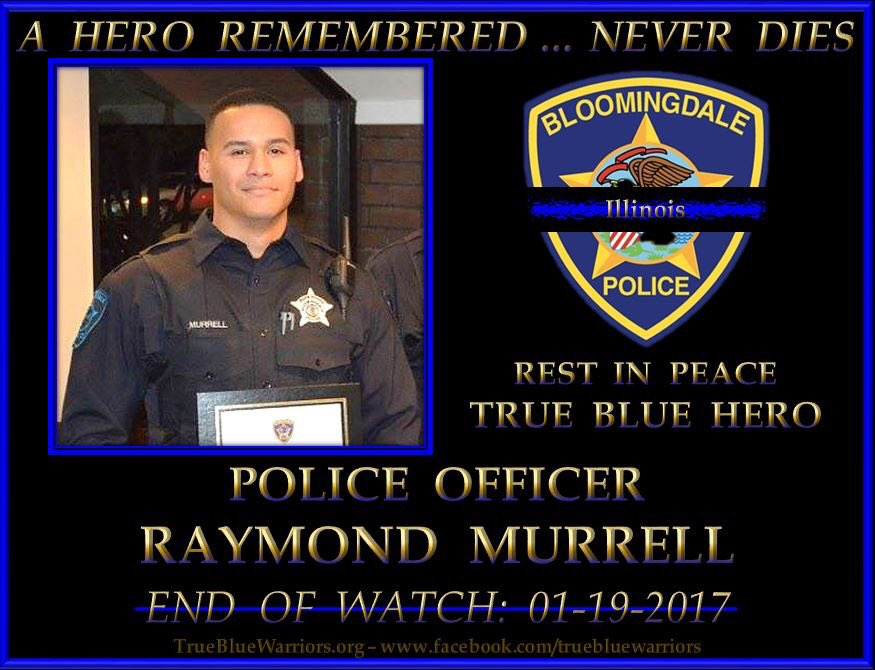 Rest In Peace PO Raymond Murrell of the #BloomingdalePD who was killed LOD responding 2 a call. Plz rt &amp; show ur support #BackTheBlue  <br>http://pic.twitter.com/mRc4COLw33