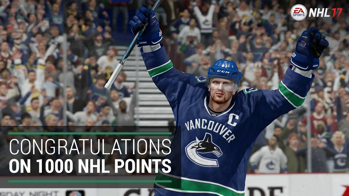 Congratulations to @Canucks captain Henrik Sedin on reaching 1000 care...