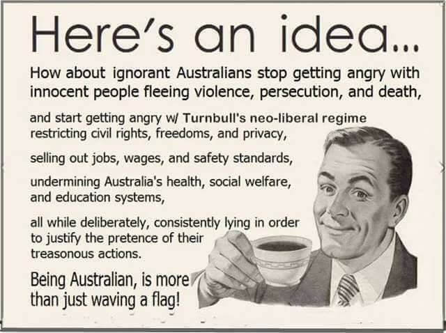 A lot of Australians are getting angry for all the wrong reasons #auspol <br>http://pic.twitter.com/EPzXghNzBE