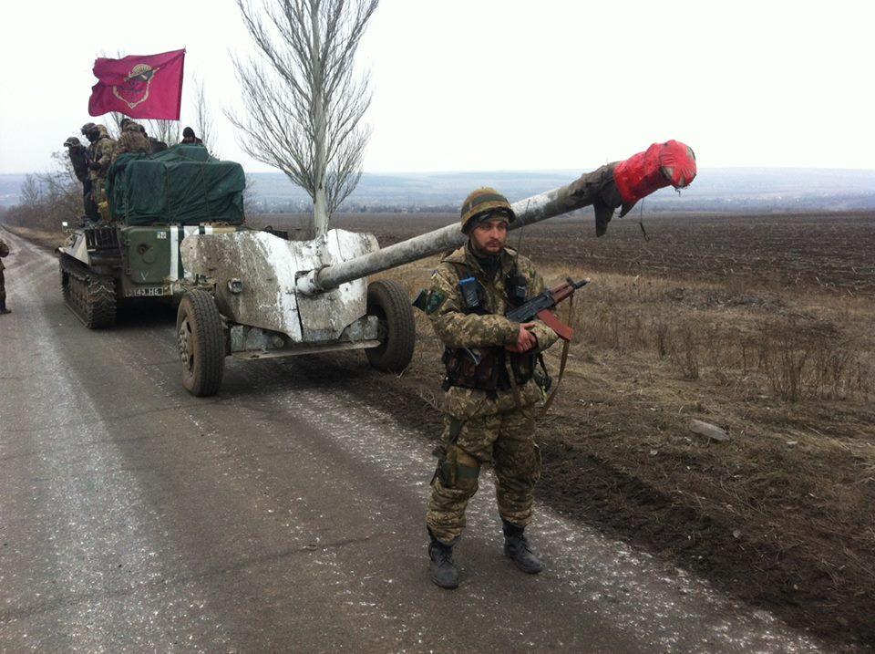 Отвод украинской артиллерии #ВСУ 2015 стволы пломбированы #OSCE https:...