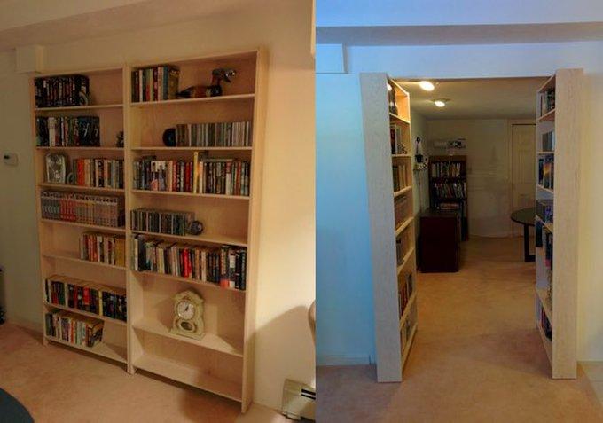 DIY : fabriquer sa propre bibliothèque avec passage secret