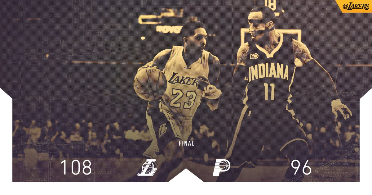 #LakersWin behind a dominant second half led by 27 points from Lou Wil...