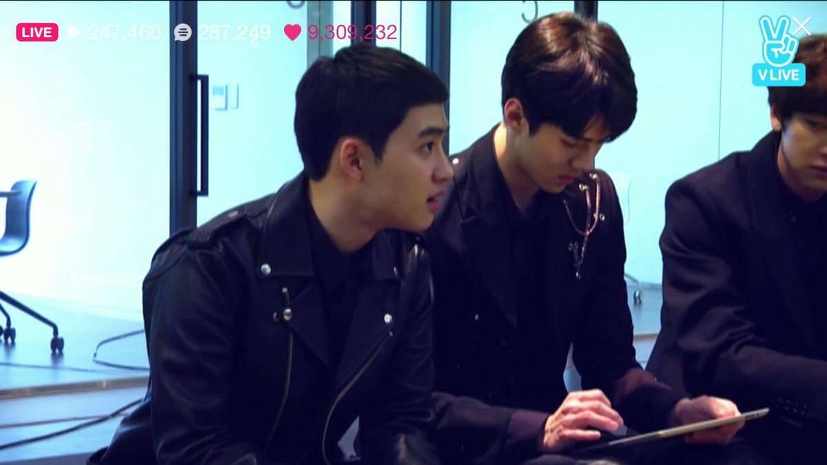 The members were asking ks what kind of broadcast that he wanna do Ks:...
