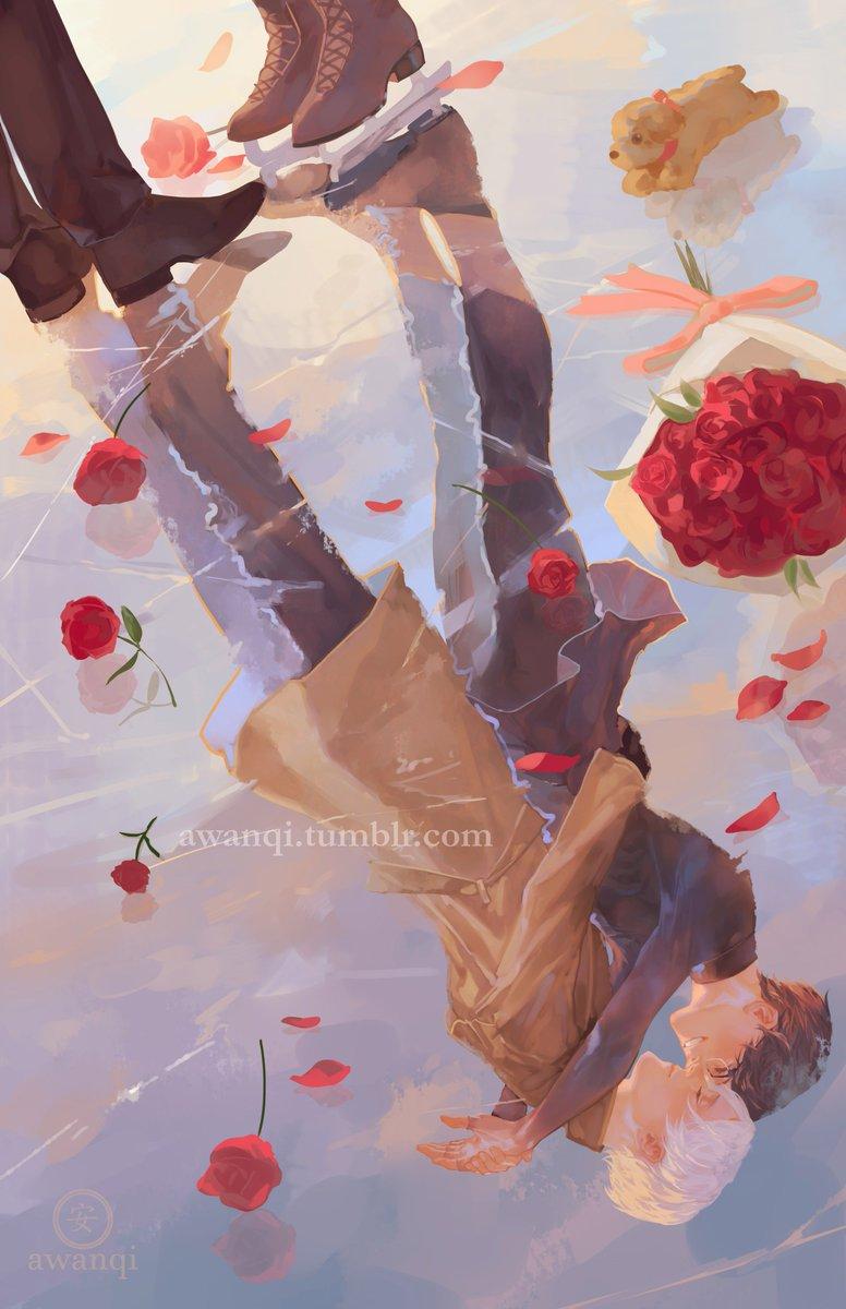 反射 #ユーリオンアイス #viktuuri #yurionice #illustration