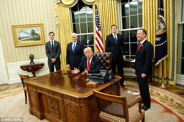 BOOM! President Trump's already put the Churchill bust back in the Oval Office.