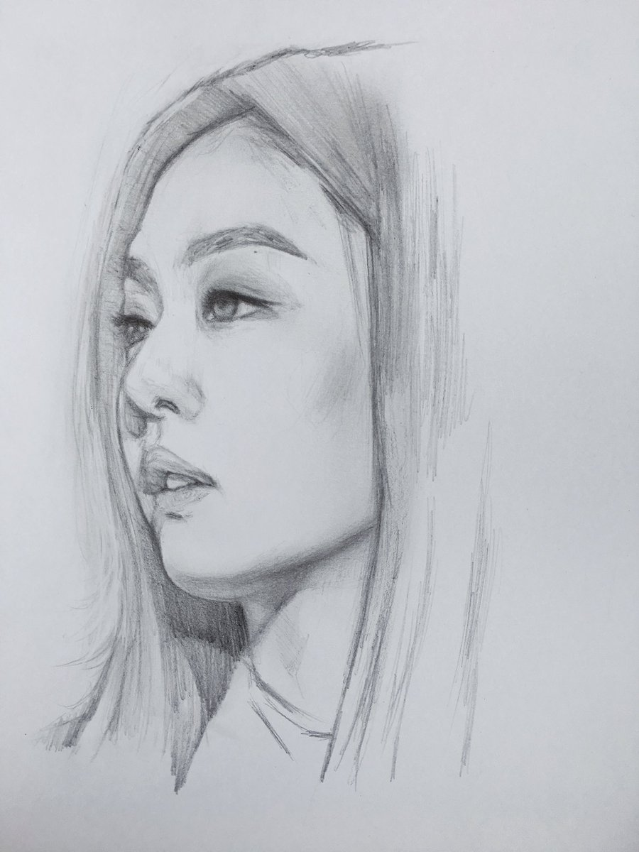 "★D★ On Twitter: ""Jennie #sketch #blackpink…"