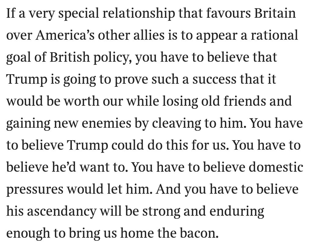 Matthew Parris wisely warns that Tories' flirting with Trump will end in tears https://t.co/3tsBbD8Cn0