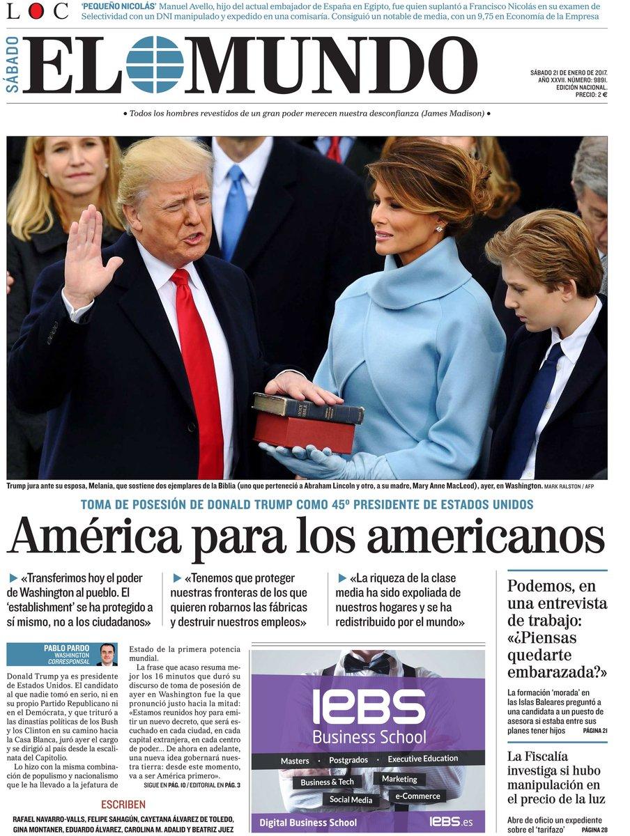 #LaPortada de nuestra edición impresa del sábado 21 de enero. #FelizSá...