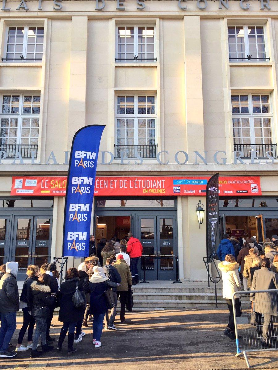 Le salon de l'étudiant en Yvelines à ouvert ses portes. On vous attend nombreux jusqu'à 18h #versailles #bfmparis #conferencespic.twitter.com/DFmpdTMQQ9