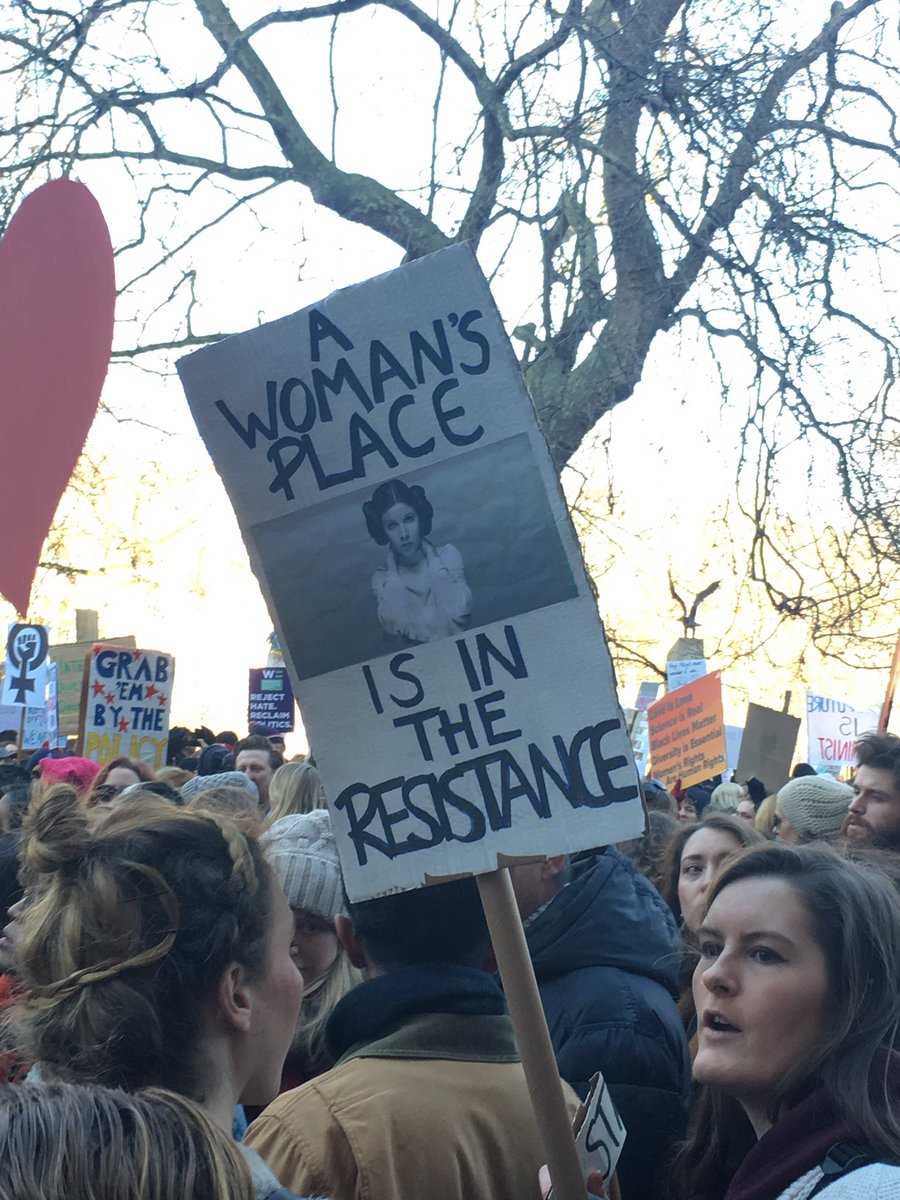 Favourite placard of the day so far
