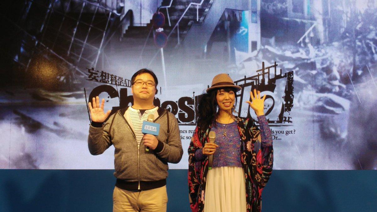 台北ゲームショウでの松原Pといとうかなこさんのツーショット。トークもミニライブもすごく良かったです #カオチャ https://t.co/Z...