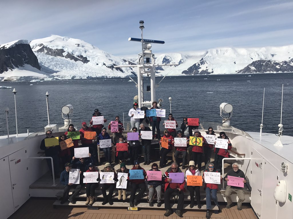 Women's March Against Trump has reached every continent, including Antarctica C2sDkPiW8AAvv8a