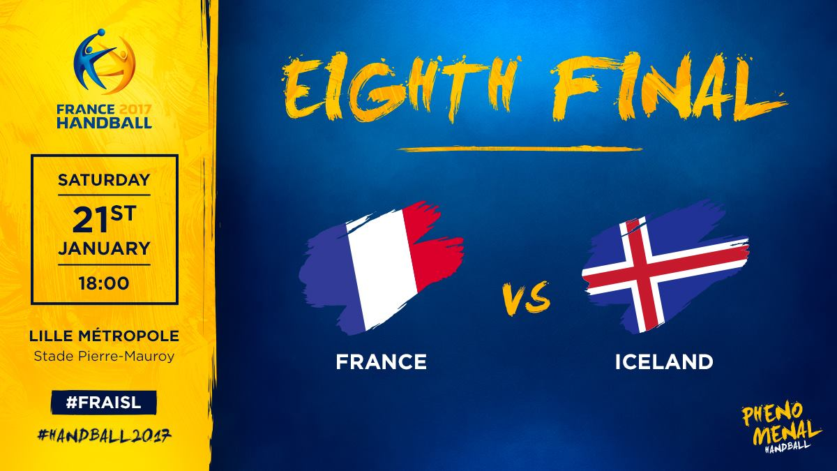 🇫🇷 France ⚡️ Iceland 🇮🇸 ➡️ Eighth Final 📍 Lille 🕑 6:00 PM 📲 #FRAISL  #...