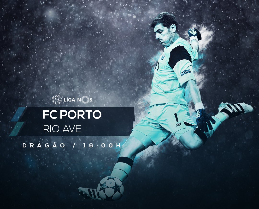 Día de partido  #FCPorto   🆚 Rio Ave  📍Dragao ⏱16:00 h   🔵⚪️ #SomosPor...