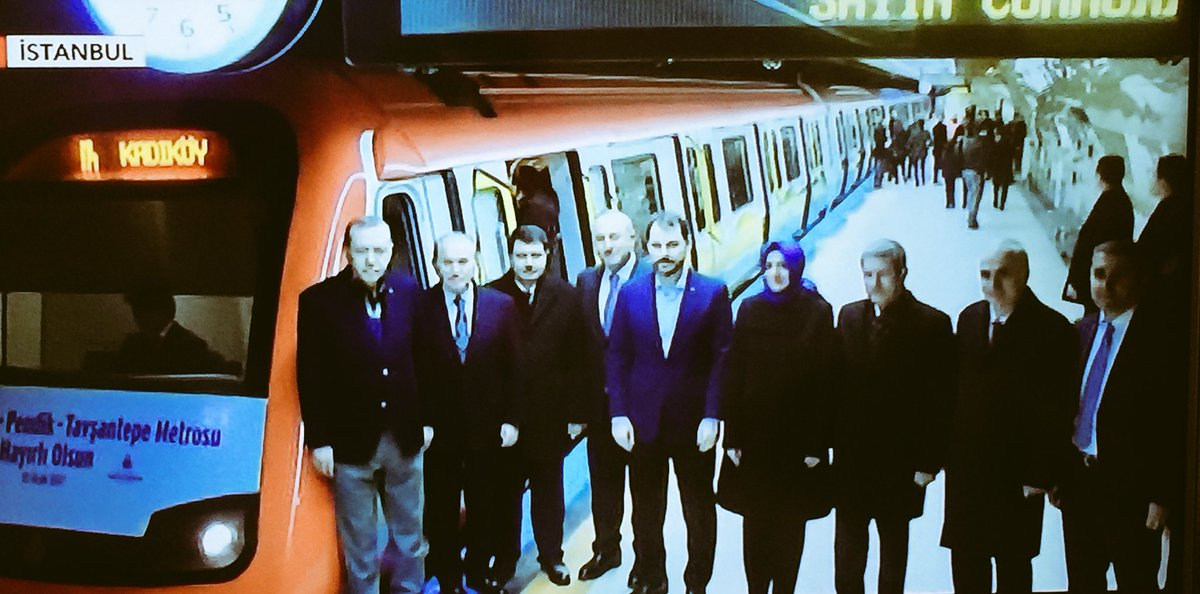 İstanbul'da metro açılışı..  Pendik-Tavşantepe hattı Cumhurbaşkanı Erd...