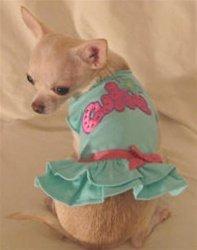 CUTIE RUFFLE T DRESS DOG DRESS! Grab it:   #dogs #puppy #dogdress #dogsoftwitter @PoshPuppy