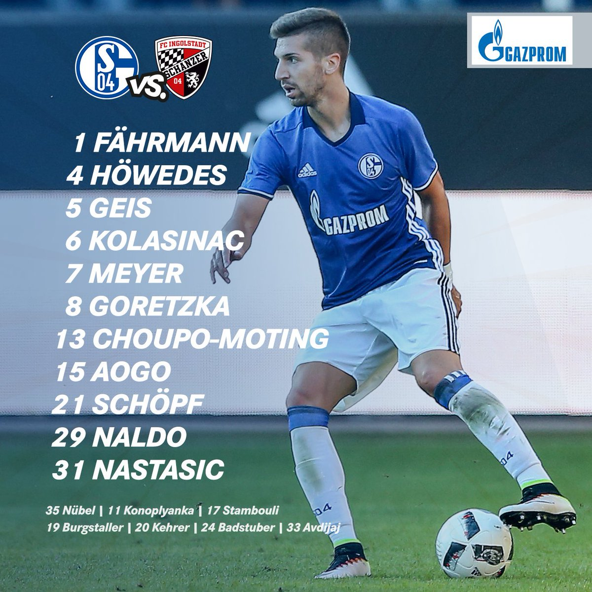 It's that time again at last... here's our starting 1️⃣1️⃣ for #S04FCI...