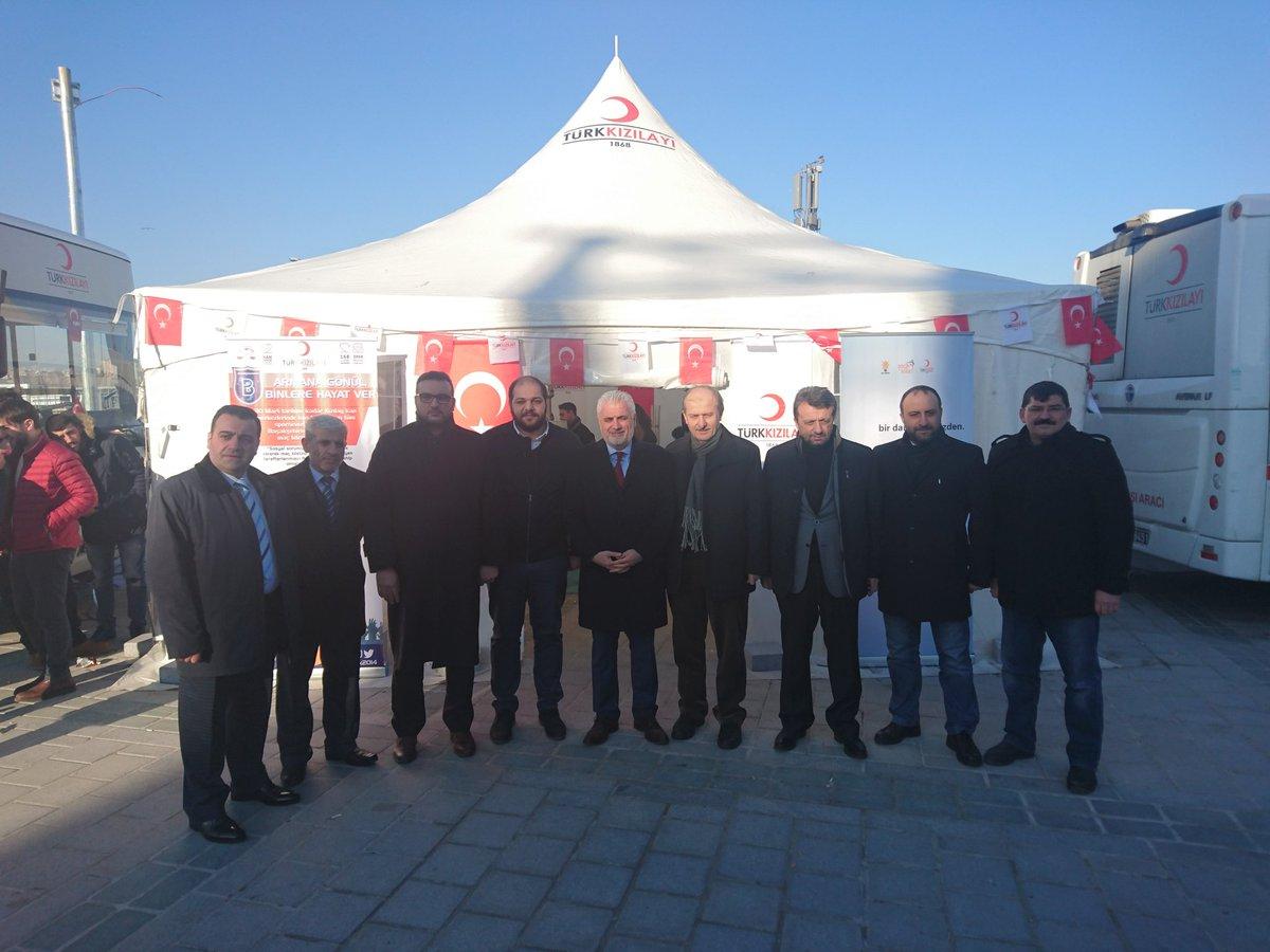 Ak Parti Fatih ilçe başkanımız Sn. @AhmetHamdiGork kan çadırımızı ziya...