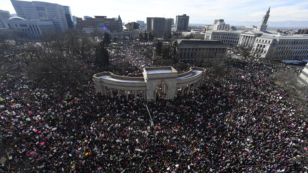 Women's March on Denver swells to more than 100,000 people, organizers say https://t.co/ipp9ru9V5Y #WomensMarch https://t.co/vnQBT9IdlU