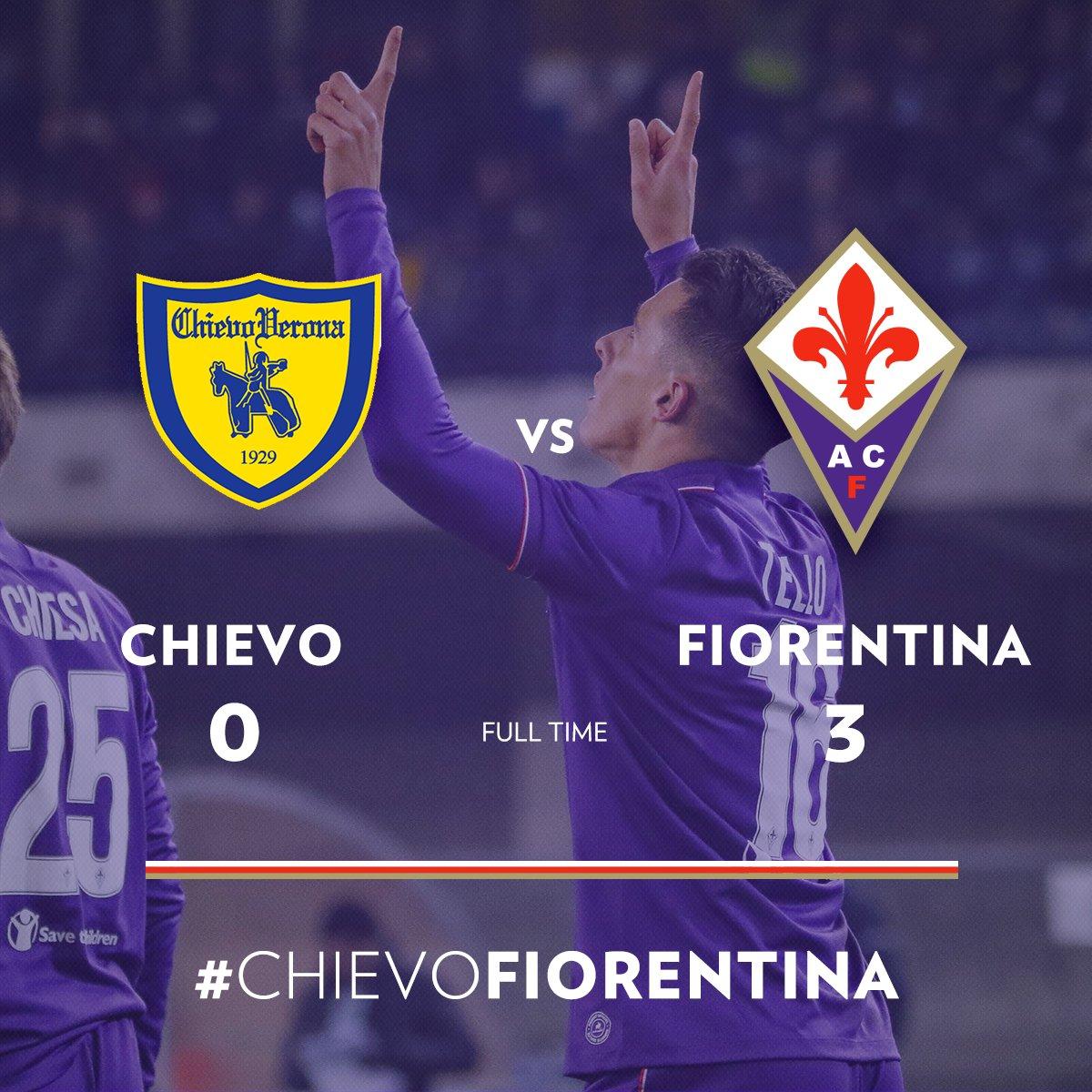 Il finale dal Bentegodi #ChievoFiorentina 0-3 I goal di Tello, Babacar...