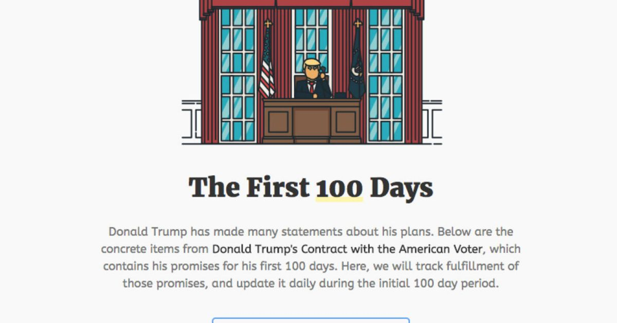 Track Trump will keep tabs on the President's first 100 days https://t...