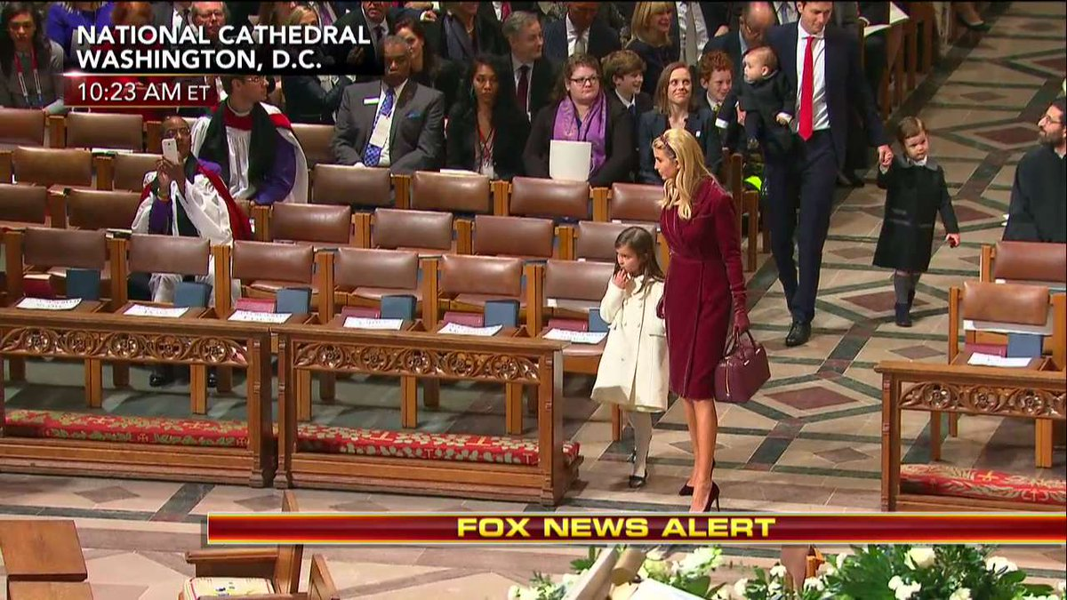 .@IvankaTrump and her family enter the National Prayer Service. https:...
