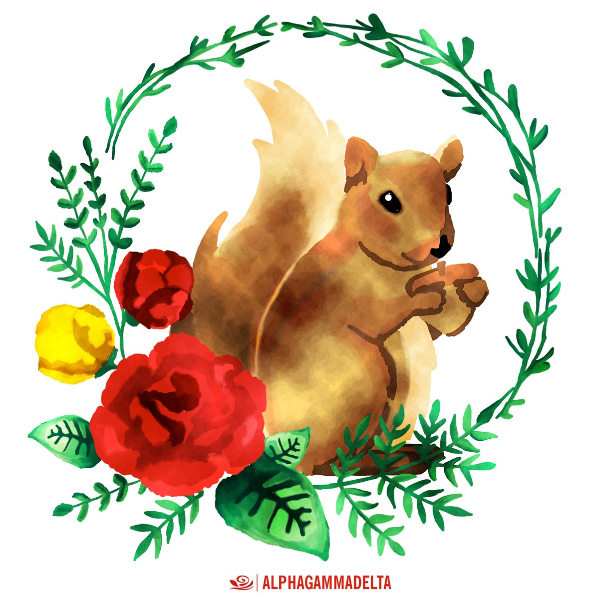 Best. Day. Ever. Happy #SquirrelAppreciationDay, Alpha Gams! #AlphaGam...