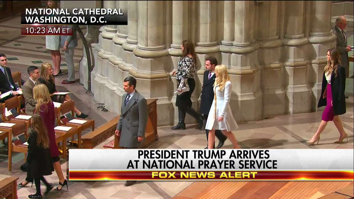 The First Family enters the National Prayer Service. https://t.co/BQWM...
