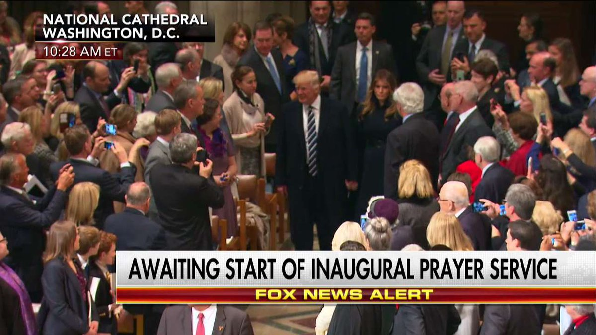 .@POTUS and @FLOTUS enter National Prayer Service. https://t.co/iGFwXP...