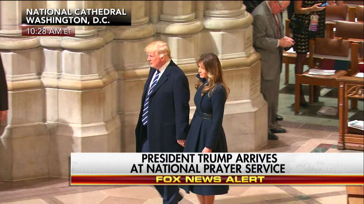 RIGHT NOW: @POTUS and @FLOTUS enter National Prayer Service at the Nat...