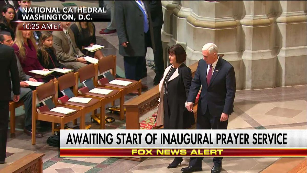 .@VP and Second Lady Karen Pence enter National Prayer Service. https:...