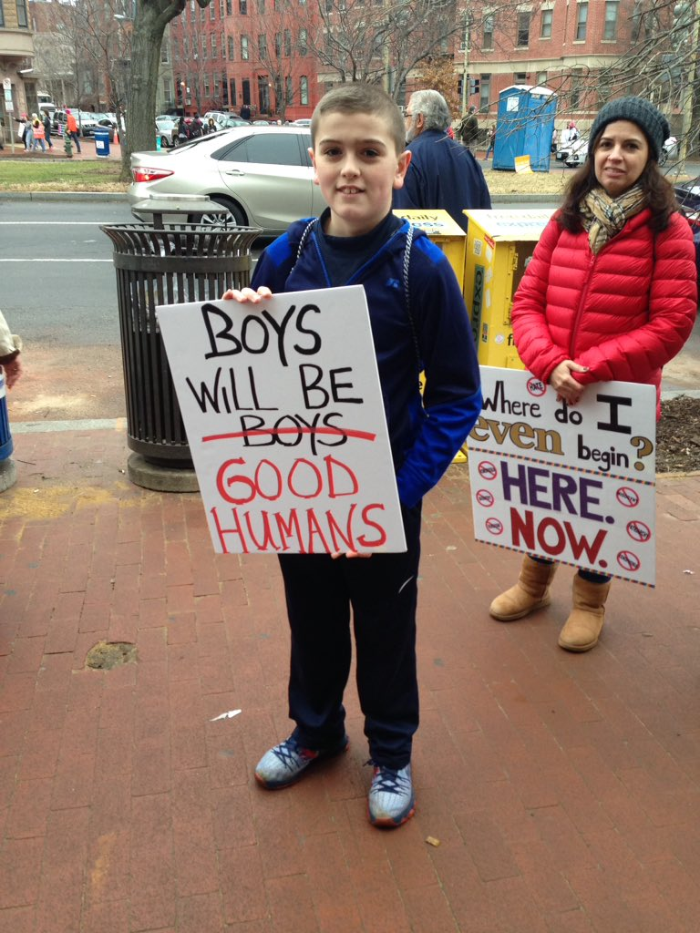 'Boys will be good humans.' #WomensMarch https://t.co/dOxwP6yrlM