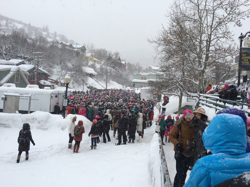 And this is UTAH.   RT @PeggyStuart: Can't even get close. #Womensmarchparkcity  #womensmarchMN
