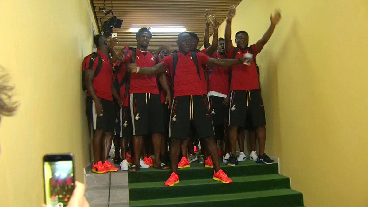 LIVE: Ghana - Mali. Bij koploper Ghana zit de sfeer er al goed in! #gh...
