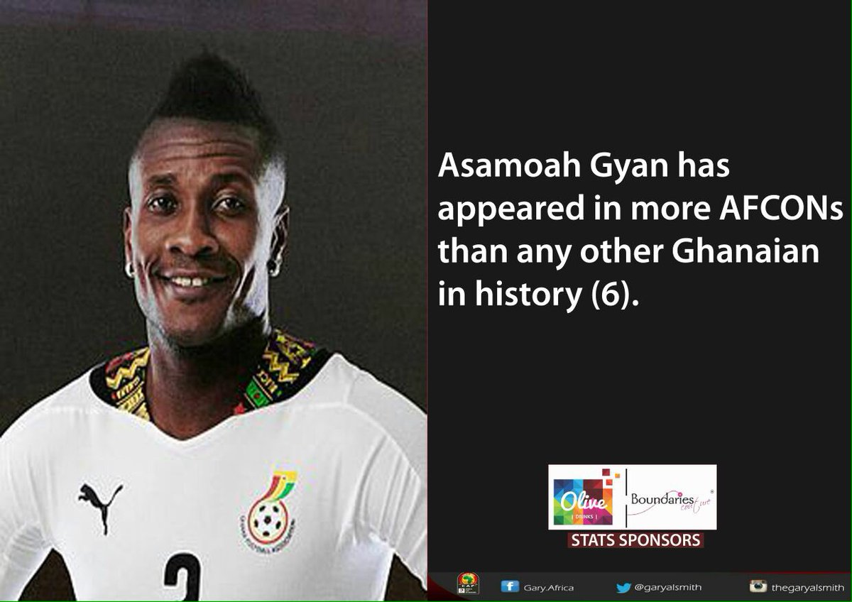Asamoah Gyan!! First of his name! #AFCON2017 #JoyAFCON https://t.co/wt...