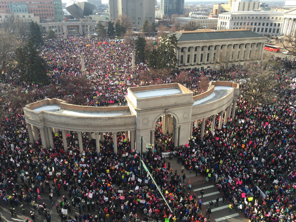 Running out of room #WomensMarchdenver