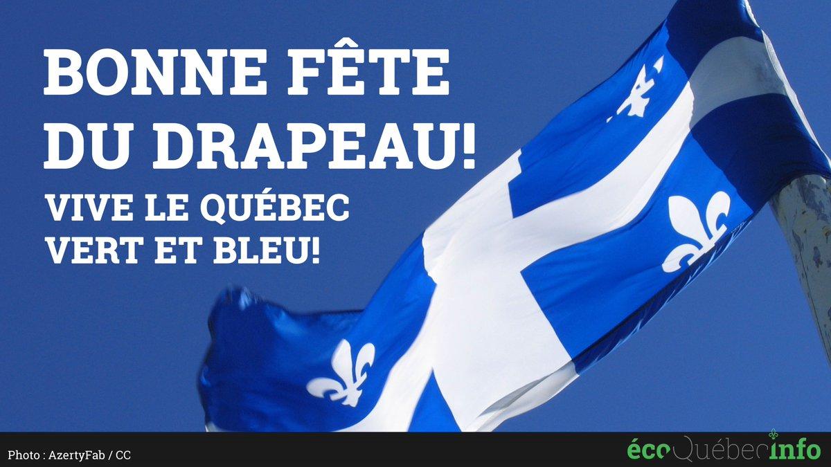 Bonne fête du drapeau!  #JourDuDrapeau #Québec #Environnement #PolQc<br>http://pic.twitter.com/oWVPCMshCr