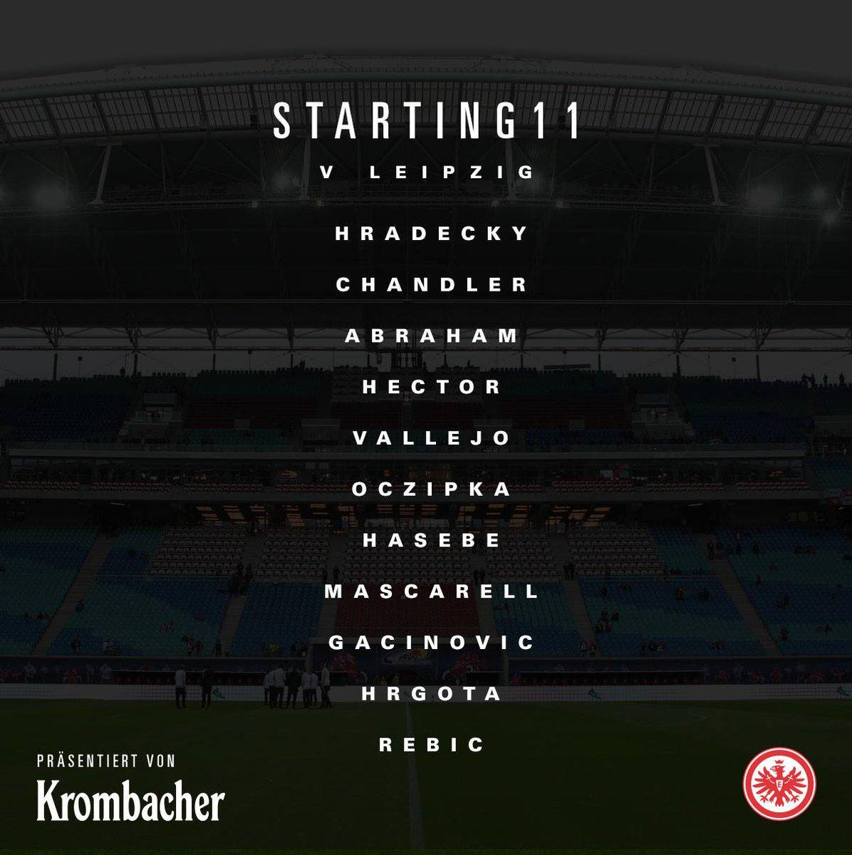 STARTING 1⃣1⃣ #Eintracht bench: Lindner (GK), Seferovic, Meier, Besusc...