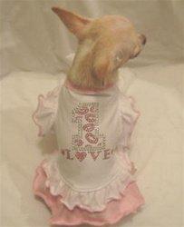 #1 FANCY RUFFLE T DRESS! Grab it:   #dogs #puppy #dogsoftwitter #dogdress @PoshPuppy