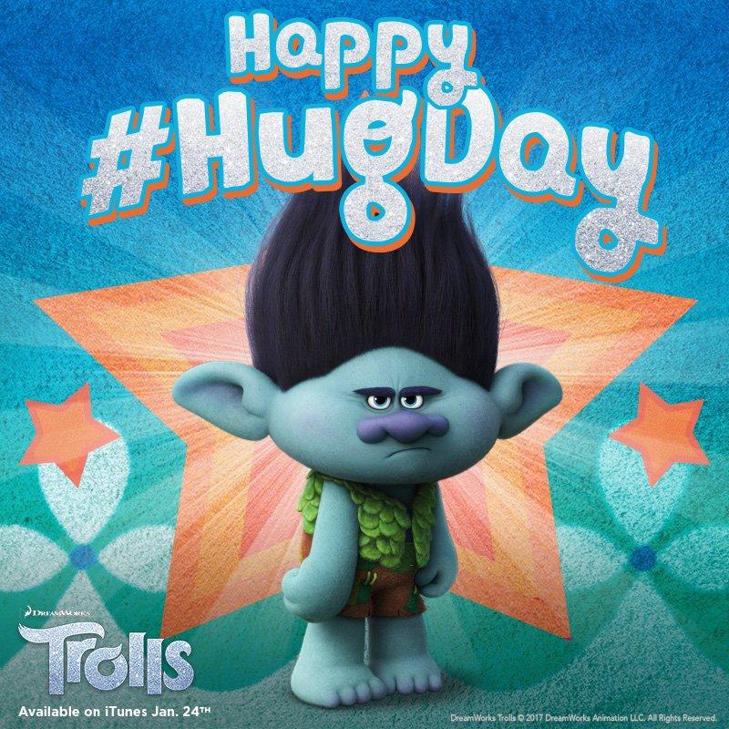 Branch's face says it all … Happy #NationalHuggingDay! @Trolls #Trolls...
