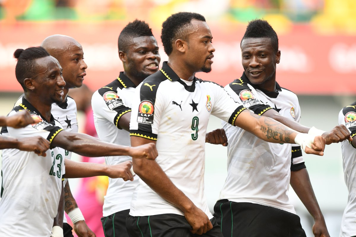 Ghana celebrate Asamoah Gyan's goal how Ghana know best with a little...