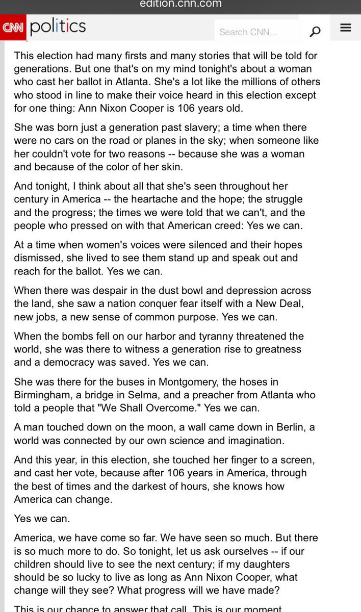 Jon Favreau On Twitter Between Yesterdays Obama Departure And Todays March Ive Been Thinking A Lot About Ann Nixon Cooper From 2008 Election Night
