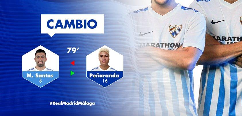 2-1. Min79| 🔁 Tercer cambio en el #MálagaCF  ◀️ Se retira Peñaranda ▶️...