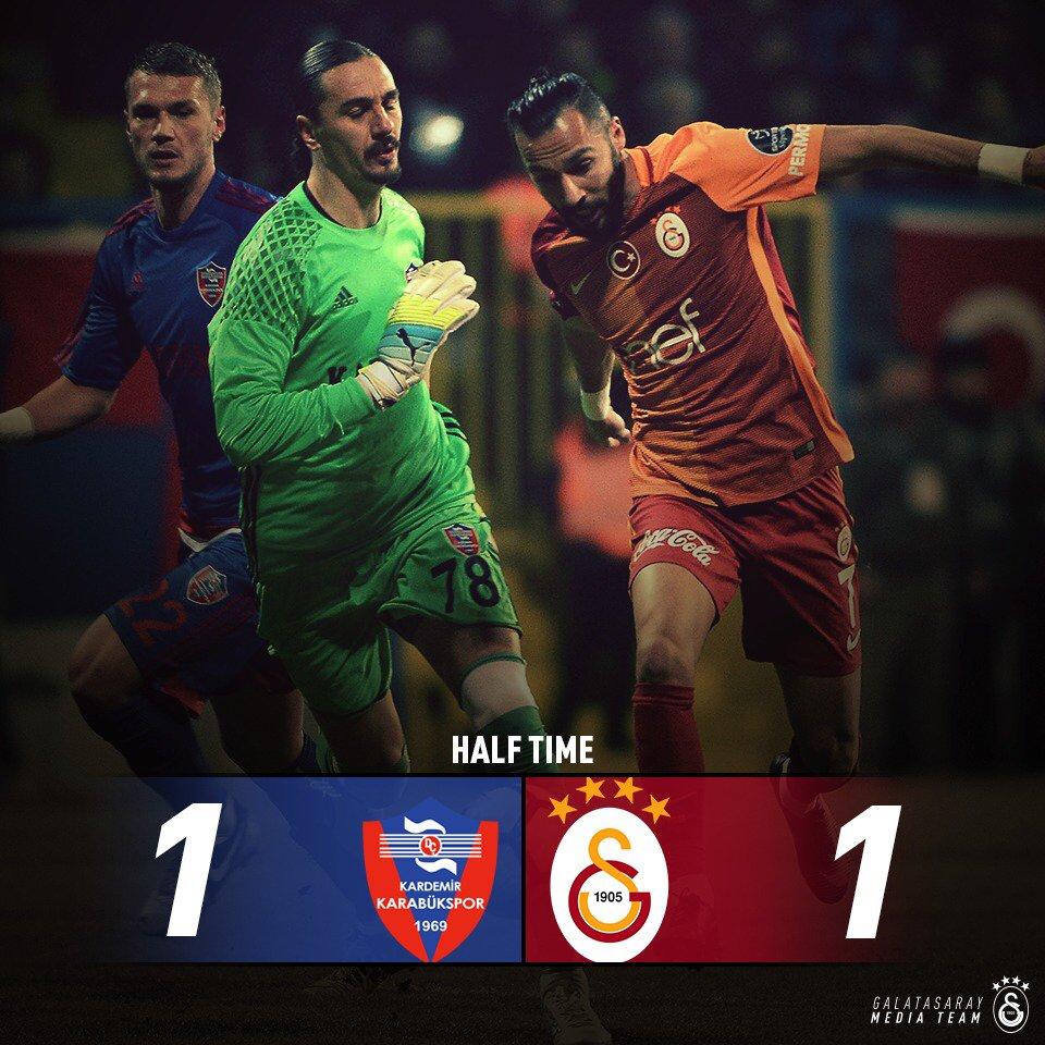 DEVRE | Karabükspor 1-1 Galatasaray #GSlive https://t.co/VwVgqXMSTZ